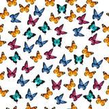 Illustration av en färgrik fjäril Royaltyfri Bild