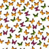 Illustration av en färgrik fjäril Arkivfoton
