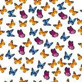 Illustration av en färgrik fjäril Fotografering för Bildbyråer