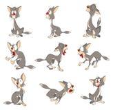 Illustration av en gulliga Cat Cartoon Character stock illustrationer
