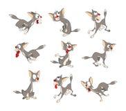 Illustration av en gulliga Cat Cartoon Character royaltyfri illustrationer