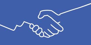 Illustration av en handskakning, symbol av förtroende och kamratskap royaltyfri illustrationer