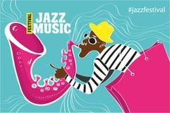 Illustration av en jazzaffisch Royaltyfri Bild