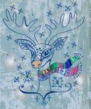Illustration av en julhjort Arkivfoton