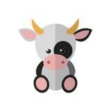 Illustration av en ko Arkivfoto