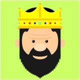 Illustration av en konung Royaltyfri Bild