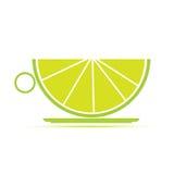 Illustration av en kopp av limefrukt Royaltyfria Foton
