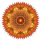illustration av en mandala av skuggor av brunt vektor illustrationer