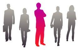 Illustration av en manlig ledare på arbete vektor illustrationer