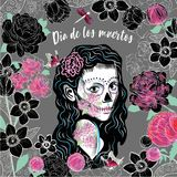 Illustration av en mexicansk häxa stock illustrationer