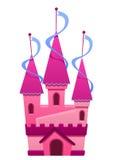 Illustration av en rosa färger färgad slott Royaltyfri Fotografi