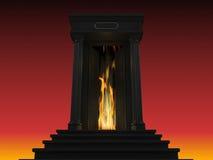 Illustration av en stege till helvetet Arkivfoton