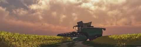 illustration av en traktor som cirkulerar arkivfoton