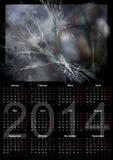 Illustration av en tysk kalender 2014 Royaltyfri Foto