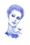 Illustration av en ung flicka Royaltyfria Foton