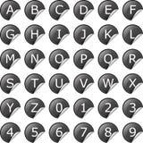 Illustration av en universell klistermärkesymbolsuppsättning Arkivbild