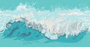 Illustration av en våg Fotografering för Bildbyråer