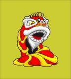 Illustration av en vektor för lejondans som en tillståndssymbol av Kina vektor illustrationer