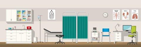 Illustration av ett doktorskontor royaltyfri illustrationer