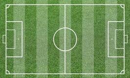 Illustration av ett fotbollfält Bakgrund för fotbollfält eller för fotbollfält Royaltyfri Bild