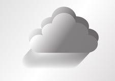 Illustration av ett grått moln Vektor Illustrationer