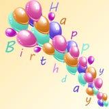 illustration av ett kort för lycklig födelsedag royaltyfri illustrationer