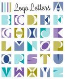Logoen märker alfabet Arkivfoton