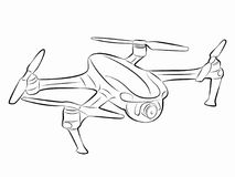 Illustration av ett surrflyg, vektorattraktion Royaltyfri Fotografi