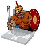 Illustration av ett trojan datavirushot. Royaltyfri Fotografi