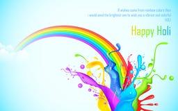 Färgrik färgstänk i den Holi wallpaperen Royaltyfria Bilder