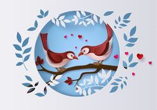 Illustration av förälskelse- och valentindagen royaltyfri illustrationer