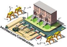 Illustration av för arkitekturkonstruktion för information det grafiska begreppet Arkivfoto