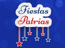 Illustration av FiestasPatrias bakgrund Beröm för självständighetsdagen för Chile ` s nationell stock illustrationer