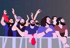 Illustration av folk som festar i färg royaltyfri illustrationer