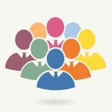 Illustration av folkmassan av folk Arkivfoton