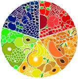 Illustration av frukt och bär Arkivfoton