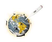Illustration av global värme Arkivfoto