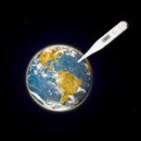 Illustration av global värme Royaltyfri Fotografi