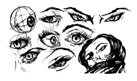 Illustration av ögon Fotografering för Bildbyråer