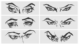 Illustration av ögon Royaltyfria Foton