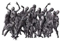 Folkmassa av zombies Royaltyfri Foto
