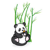 Illustration av gulliga Panda Bear i bambu Forrest 03 Royaltyfri Bild