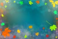 Illustration av härlig höstbakgrund med fallande sidor Royaltyfri Foto