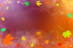 Illustration av höstbakgrund med fallande sidor Arkivfoton