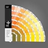 Illustration av handboken för färgpalett för trycket, resehandbok för formgivare vektor illustrationer