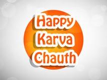 Illustration av hinduisk festivalKarwa Chauth bakgrund Fotografering för Bildbyråer