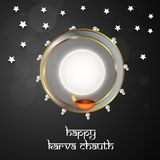 Illustration av hinduisk festivalKarwa Chauth bakgrund Royaltyfria Bilder