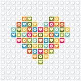 Illustration av hjärta på en vit bakgrund royaltyfri illustrationer