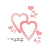 Illustration av hjärta Sänka designstil Logodesignmallen, emblemet, etiketten, emblemet, symbol isolerade logotypen Royaltyfria Foton