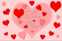 Illustration av hjärtor som föreställer förälskelse Royaltyfri Foto